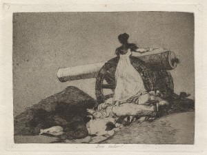 Francisco de Goya, Desastres de la guerra (Desastres de la guerre) : « Que valor ! », 1810-1820, 1ère édition de 1863, planche 7 Collection Sylvie et Georges Heft - Exposition Soulèvements au jeu de Paume