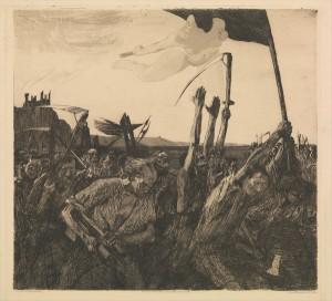 Aufruhr - Emeute - Käthe Kollwitz 1899 - Exposition Soulèvements au Jeu de Paume